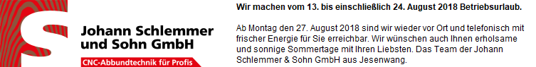 Johann Schlemmer Abbundtechnik aus Jesenwang